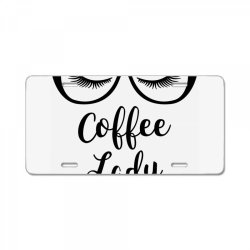 coffee lady License Plate | Artistshot