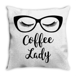 coffee lady Throw Pillow | Artistshot