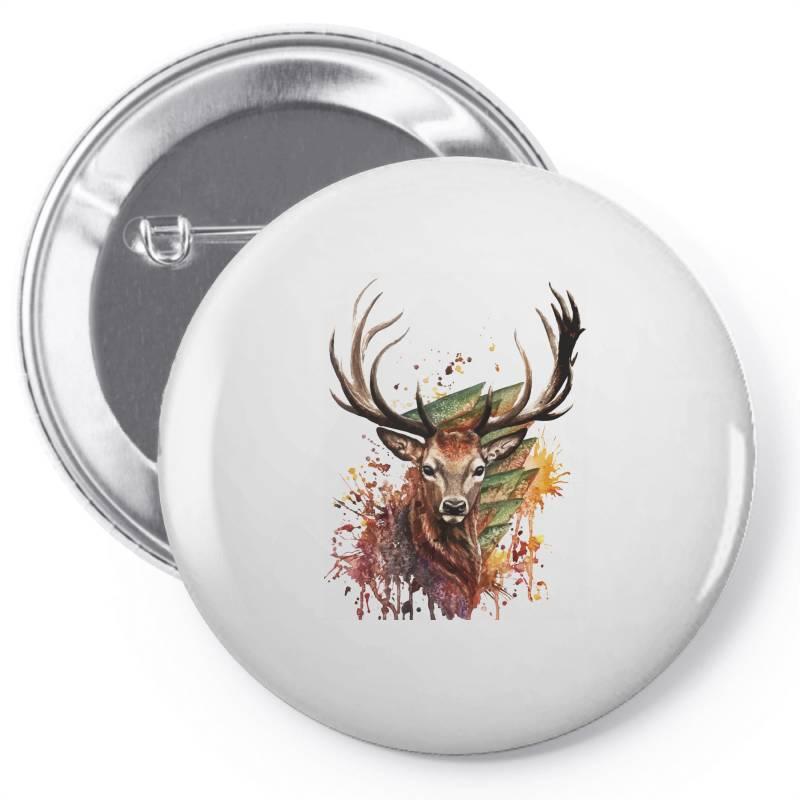 Deer Pin-back Button | Artistshot
