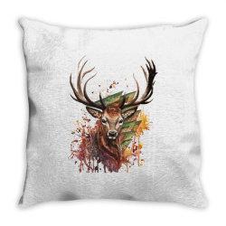Deer Throw Pillow | Artistshot