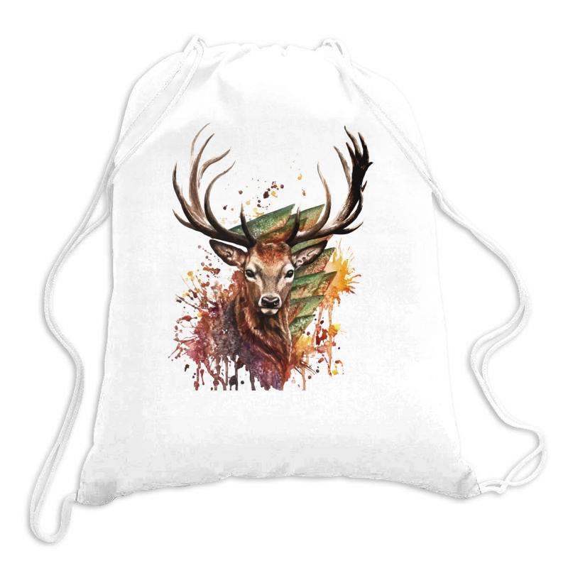 Deer Drawstring Bags | Artistshot