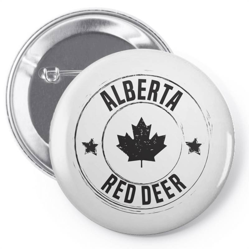 Red Deer -  Alberta Pin-back Button   Artistshot