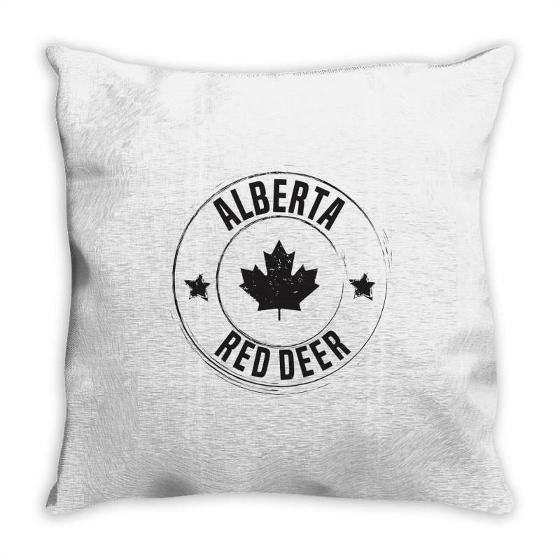 Red Deer -  Alberta Throw Pillow | Artistshot