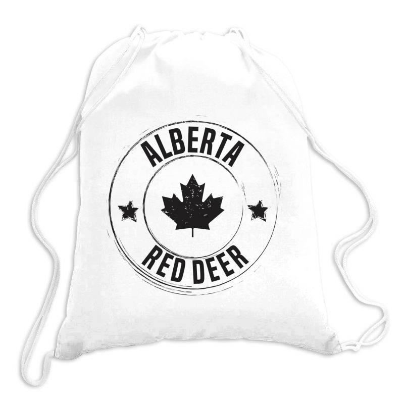 Red Deer -  Alberta Drawstring Bags   Artistshot