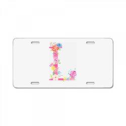 L License Plate | Artistshot
