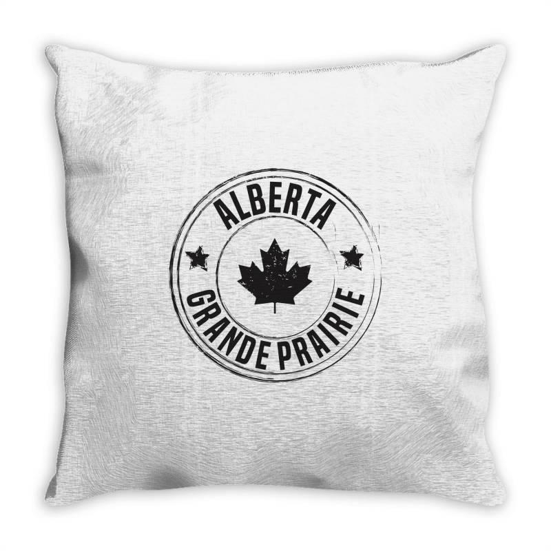 Grande Prairie -  Alberta Throw Pillow | Artistshot