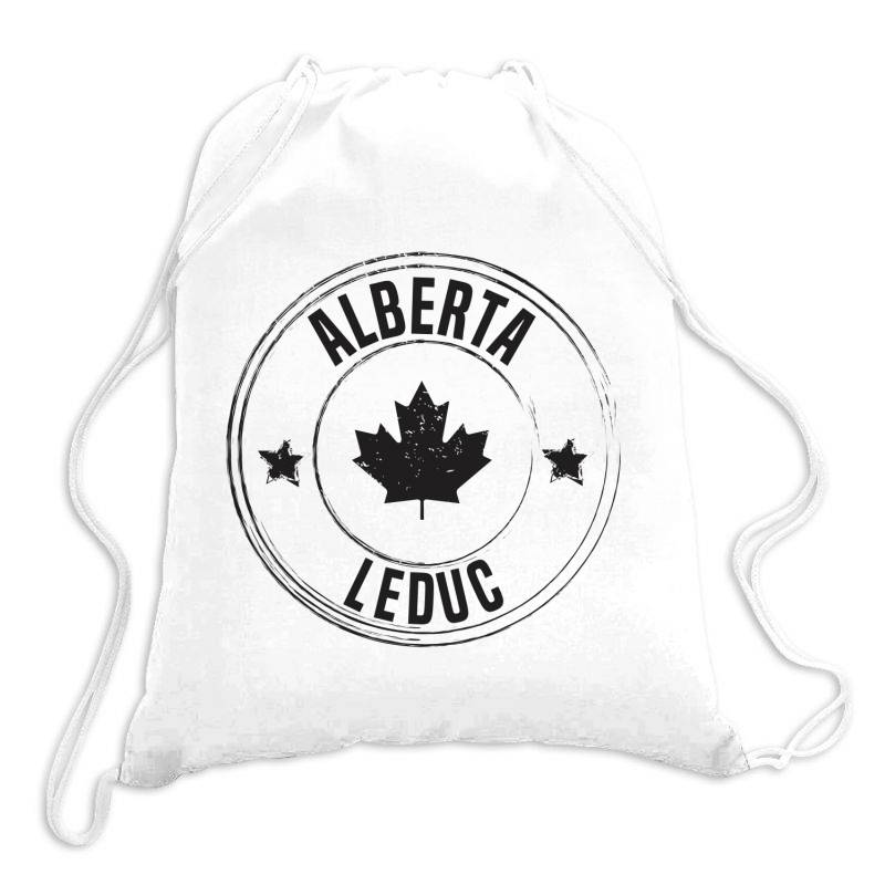 Leduc -  Alberta Drawstring Bags | Artistshot