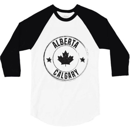 Calgary -  Alberta 3/4 Sleeve Shirt Designed By Chris Ceconello