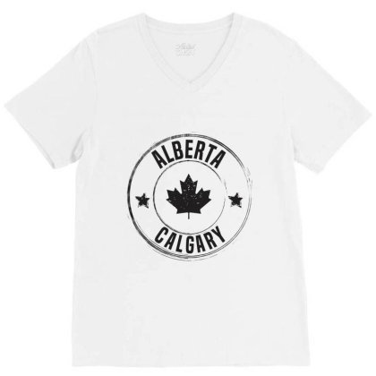 Calgary -  Alberta V-neck Tee Designed By Chris Ceconello