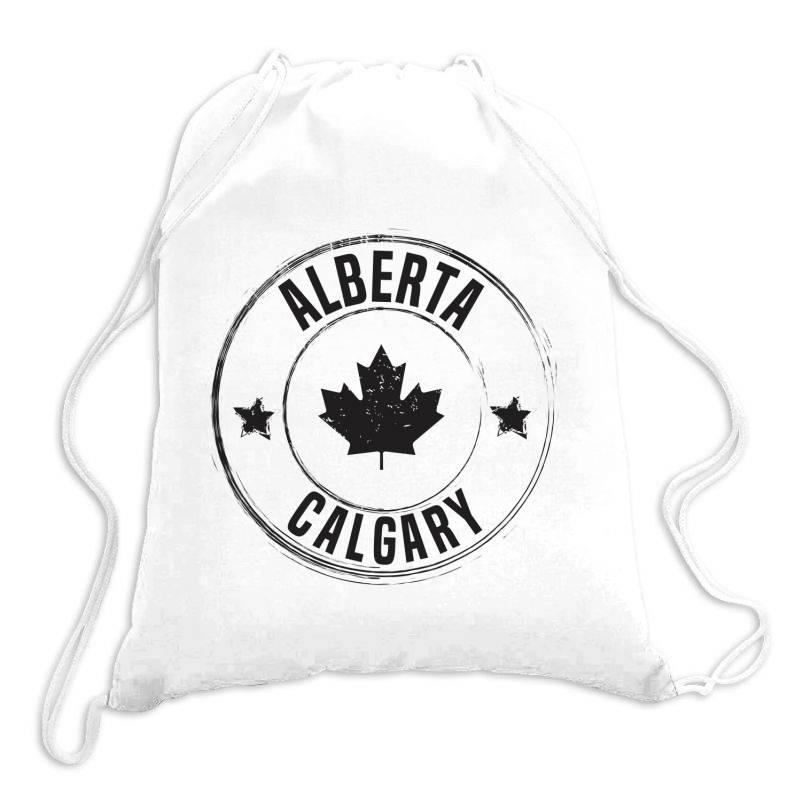 Calgary -  Alberta Drawstring Bags | Artistshot