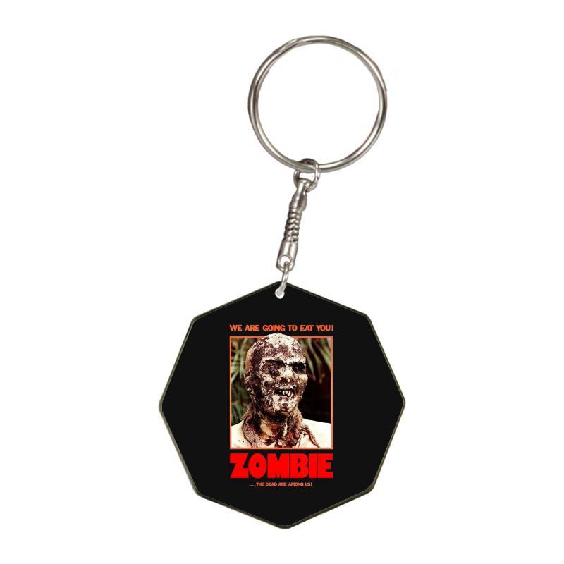 Zombie 2. Zombie Flesh Eaters Octagon Keychain   Artistshot