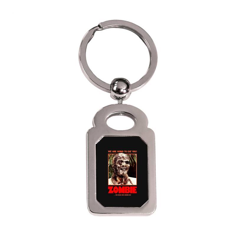 Zombie 2. Zombie Flesh Eaters Silver Rectangle Keychain | Artistshot