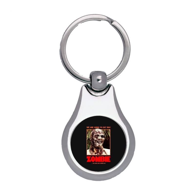Zombie 2. Zombie Flesh Eaters Silver Pear Keychain   Artistshot