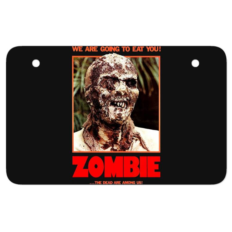 Zombie 2. Zombie Flesh Eaters Atv License Plate | Artistshot