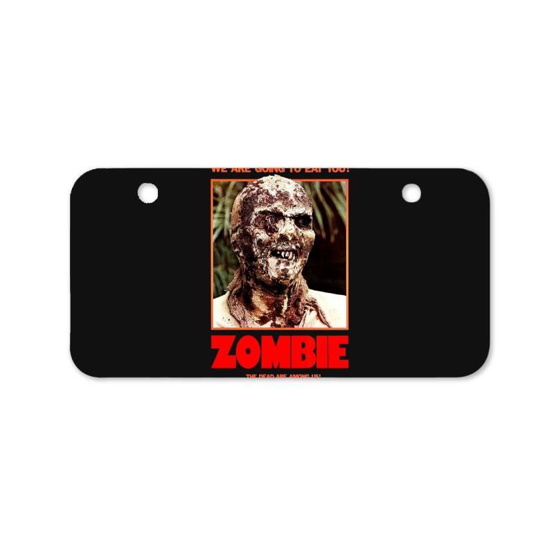 Zombie 2. Zombie Flesh Eaters Bicycle License Plate   Artistshot