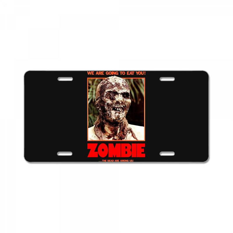 Zombie 2. Zombie Flesh Eaters License Plate | Artistshot