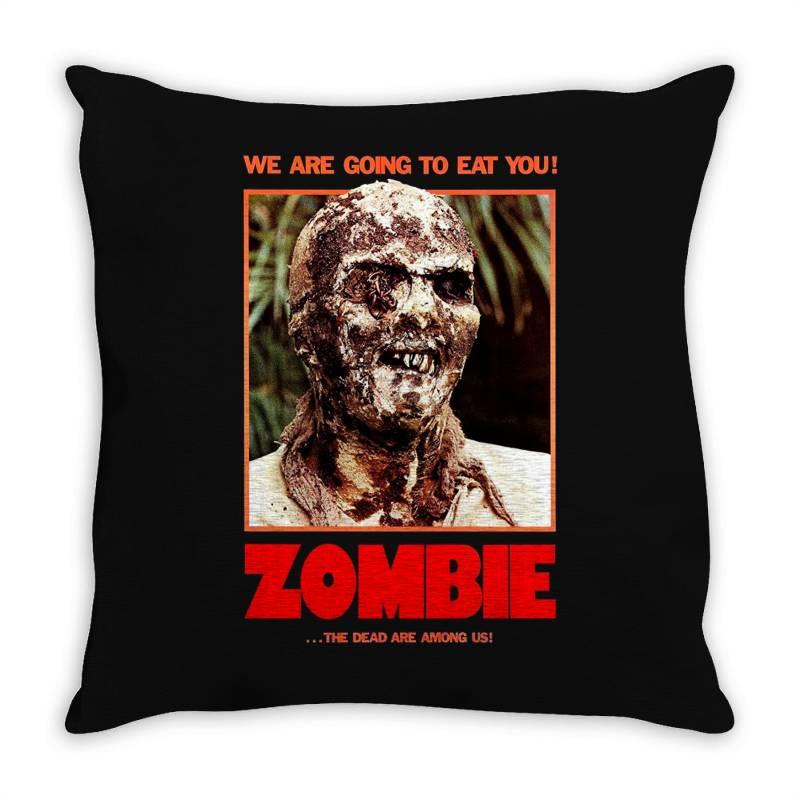Zombie 2. Zombie Flesh Eaters Throw Pillow | Artistshot