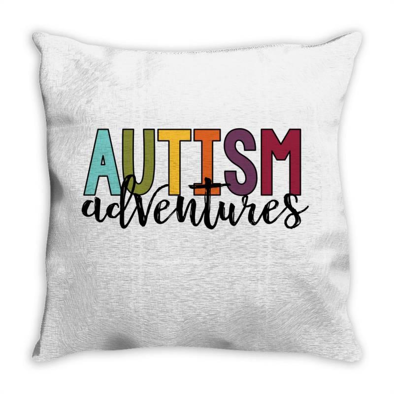Autism Adventures Throw Pillow | Artistshot