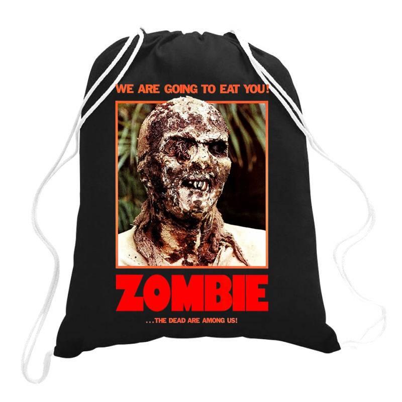 Zombie 2. Zombie Flesh Eaters Drawstring Bags | Artistshot