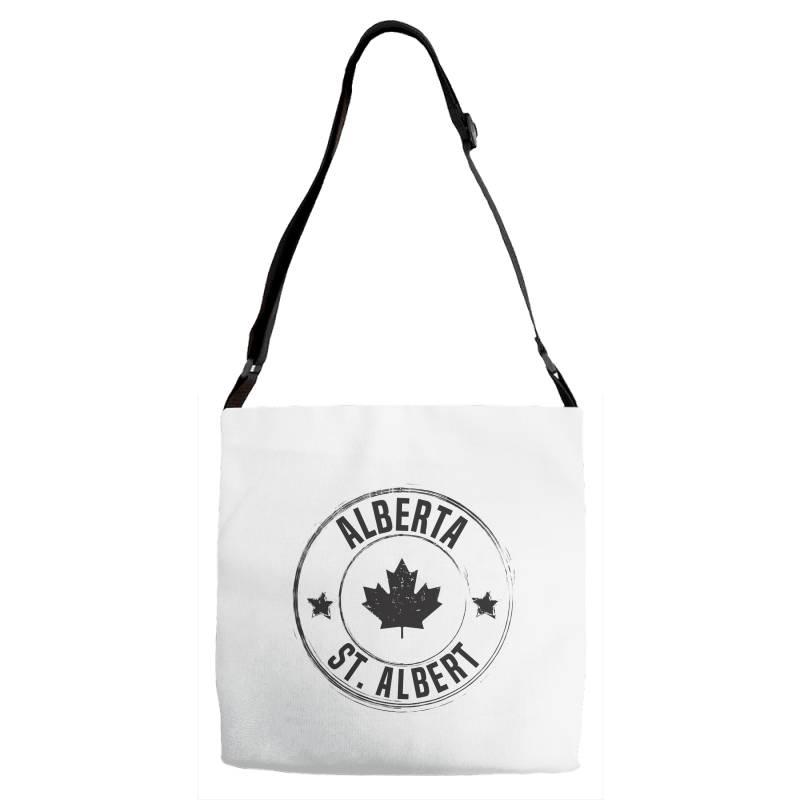 St. Albert -  Alberta Adjustable Strap Totes   Artistshot