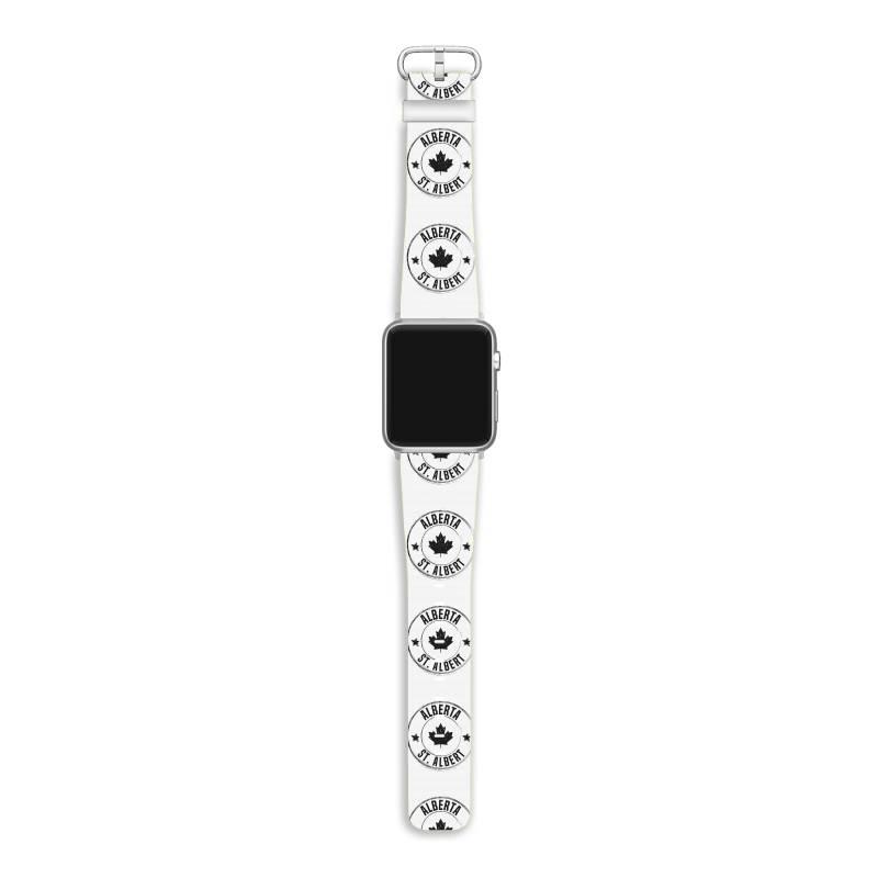 St. Albert -  Alberta Apple Watch Band | Artistshot