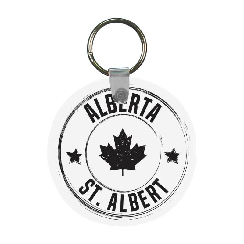 St. Albert -  Alberta Frp Round Keychain | Artistshot