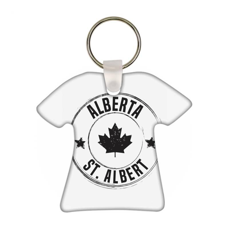 St. Albert -  Alberta T-shirt Keychain   Artistshot