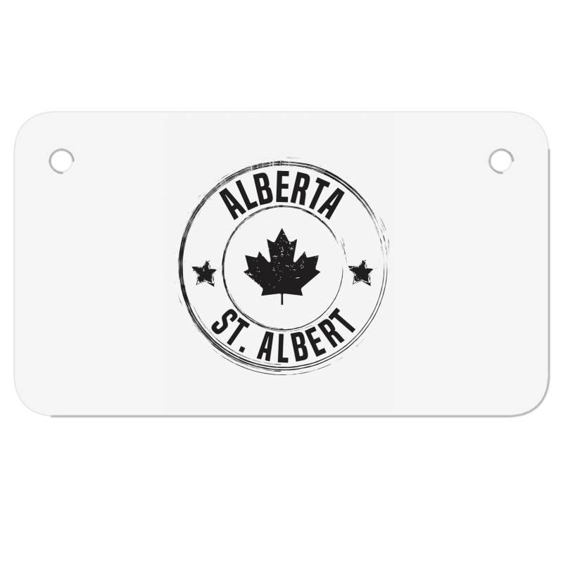 St. Albert -  Alberta Motorcycle License Plate   Artistshot