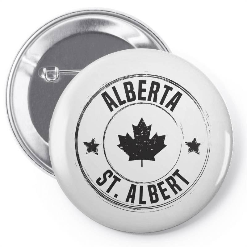 St. Albert -  Alberta Pin-back Button | Artistshot