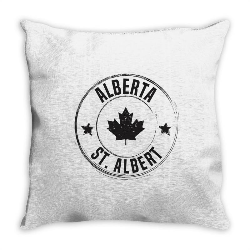 St. Albert -  Alberta Throw Pillow | Artistshot