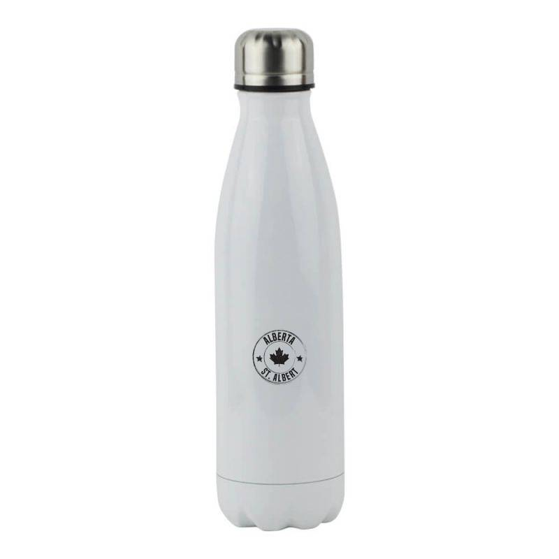 St. Albert -  Alberta Stainless Steel Water Bottle | Artistshot