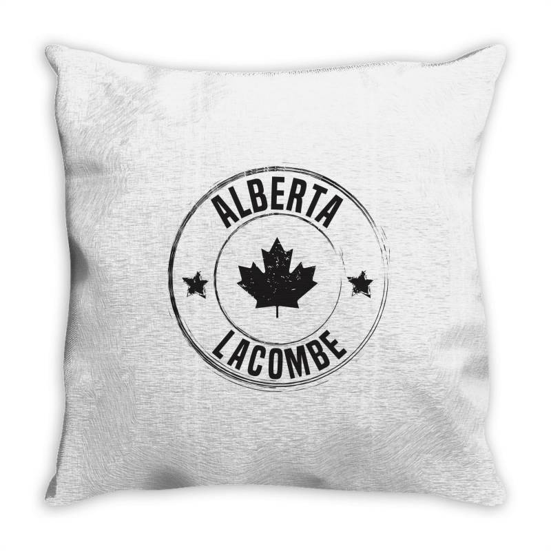 Lacombe -  Alberta Throw Pillow | Artistshot