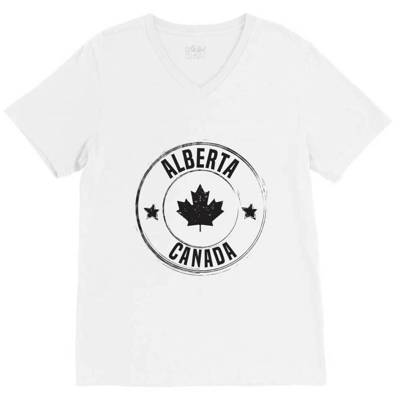 Alberta - Canada V-neck Tee   Artistshot