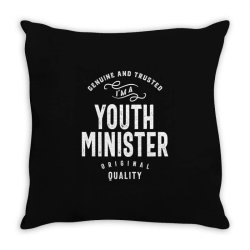 Youth Minister Gift Funny Job Title Profession Birthday Idea Throw Pillow | Artistshot