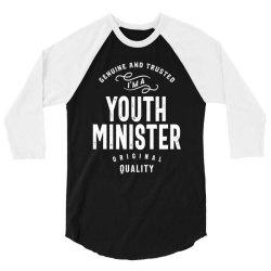 Youth Minister Gift Funny Job Title Profession Birthday Idea 3/4 Sleeve Shirt   Artistshot