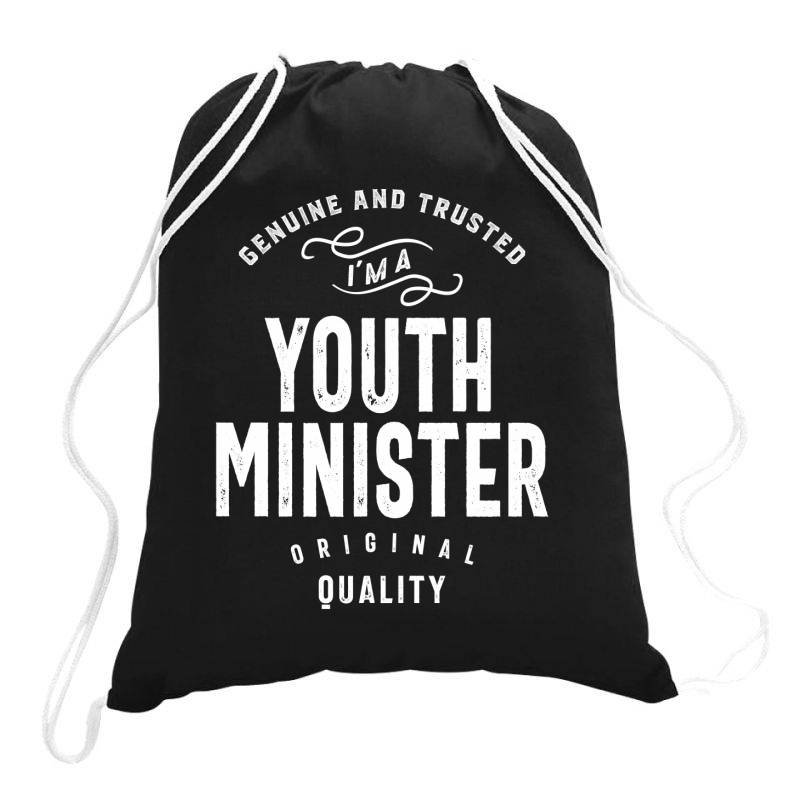 Youth Minister Gift Funny Job Title Profession Birthday Idea Drawstring Bags | Artistshot