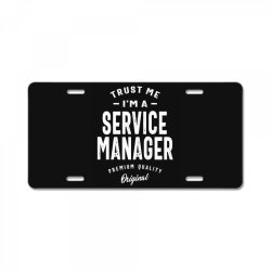 Service Manager Gift Funny Job Title Profession Birthday Idea License Plate | Artistshot