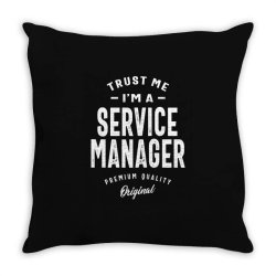 Service Manager Gift Funny Job Title Profession Birthday Idea Throw Pillow | Artistshot