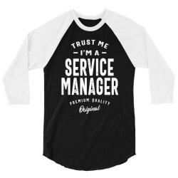 Service Manager Gift Funny Job Title Profession Birthday Idea 3/4 Sleeve Shirt | Artistshot