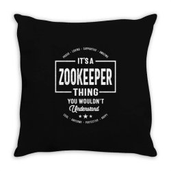 Zookeeper Gift Funny Job Title Profession Birthday Idea Throw Pillow | Artistshot
