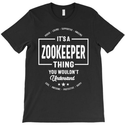 Zookeeper Gift Funny Job Title Profession Birthday Idea T-shirt Designed By Cidolopez