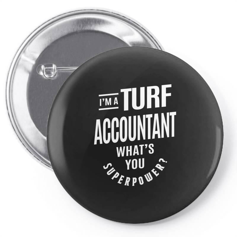 Turf Accountant Gift Funny Job Title Profession Birthday Idea Pin-back Button | Artistshot