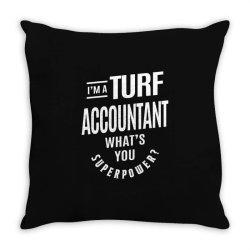 Turf Accountant Gift Funny Job Title Profession Birthday Idea Throw Pillow | Artistshot