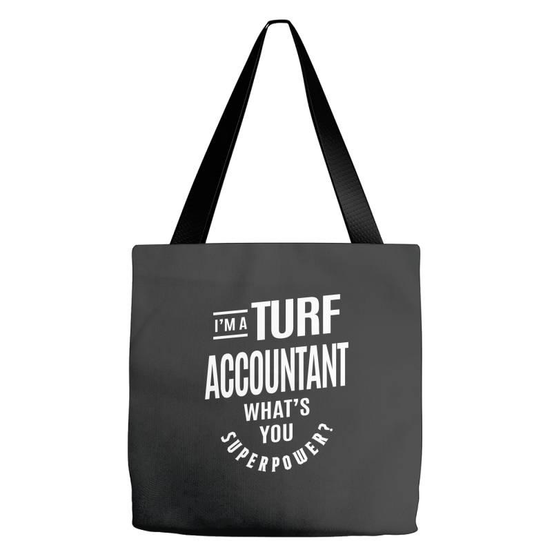Turf Accountant Gift Funny Job Title Profession Birthday Idea Tote Bags | Artistshot