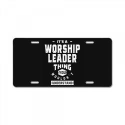 Worship Leader Gift Funny Job Title Profession Birthday Idea License Plate | Artistshot