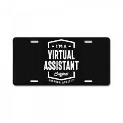 Virtual Assistant Gift Funny Job Title Profession Birthday Idea License Plate | Artistshot