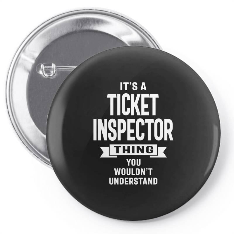 Ticket Inspector Gift Funny Job Title Profession Birthday Idea Pin-back Button | Artistshot