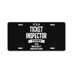 Ticket Inspector Gift Funny Job Title Profession Birthday Idea License Plate | Artistshot
