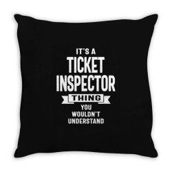 Ticket Inspector Gift Funny Job Title Profession Birthday Idea Throw Pillow | Artistshot