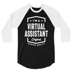 Virtual Assistant Gift Funny Job Title Profession Birthday Idea 3/4 Sleeve Shirt | Artistshot